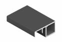 Рамочный узкий профиль 598 с ручкой черный матовый/матовый хром