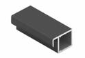 Рамочный узкий профиль 560 черный матовый/матовый хром