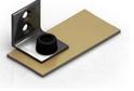 Заглушка алюминий для двухполозной верхней направляющей