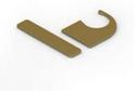 Заглушки пластик дверная для профиля С и торцевая Aristo