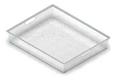 Корзина на 1 рельс GSA 0271/W (527*427*85 мм) Белая