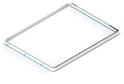 Выдвижная рамка для корзин GSA 0299/W (536*430 мм) Белая