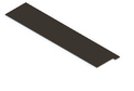 Разделитель полки-корзины GSA 0335-R10 (400 мм) Темное дерево