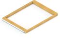 Выдв-я рамка для корзин GSA 0301/W (600*437 мм) Светлое дерево/Белый