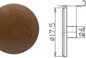Заглушка эксцентрика №10 арт.4252