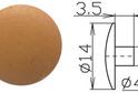 Заглушка под шестигранник №14 арт.3734
