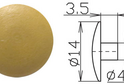 Заглушка под шестигранник №2 арт.3634