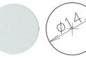 Заглушка самокл. D=14 белая (50 шт) арт.4622