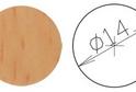 Заглушка самокл. D=14 бук (50 шт) арт.4633