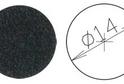 Заглушка самокл. D=14 черный (50 шт) арт.4627