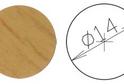 Заглушка самокл. D=14 дуб светлый (50 шт) арт.4635