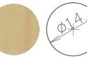 Заглушка самокл. D=14 клен (50 шт) арт.4634