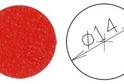 Заглушка самокл. D=14 красный (50 шт) арт.4626