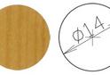 Заглушка самокл. D=14 ольха (50 шт) арт.4636