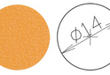 Заглушка самокл. D=14 оранжевая (50 шт) арт.5023
