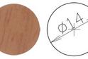 Заглушка самокл. D=14 орех ит.светл. (50 шт) арт.4643