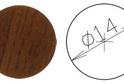Заглушка самокл. D=14 орех итал-й (50 шт) арт.4641