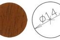 Заглушка самокл. D=14 орех светлый (50 шт) арт.4642