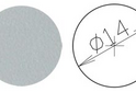 Заглушка самокл. D=14 серая (50 шт) арт.4624