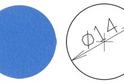Заглушка самокл. D=14 синяя (50 шт) арт.4623