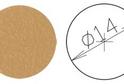 Заглушка самокл. D=14 темно-бежевая (50 шт) арт.4630