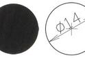 Заглушка самокл. D=14 венге (50 шт) арт.4637