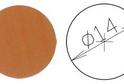 Заглушка самокл. D=14 вишня оксфорд (50 шт) арт.4638