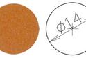 Заглушка самокл. D=14 вишня светлая (50 шт) арт.4631