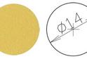 Заглушка самокл. D=14 желтая (50 шт) арт.4629