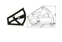 Кронштейн для обувных тумбочек с втулкой черный арт.977