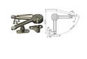 Кронштейн с регулир-м углом открывания LS02 арт.3005