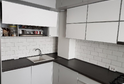 Кухня пластик белый глянец  в кромке ABS