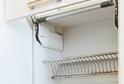 Кухня пластик белый глянец + графит матовый в кромке ABS