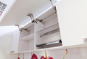 Кухня Rehau белый + баклажан глянец