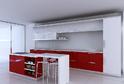 Кухня AGT Красный глянец + Белый матовый в кромке ABS