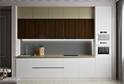 Кухня AGT белый матовый + Орех Миланский в кромке ABS