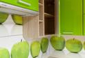 Кухня пленка МДФ яблоко + пластик Naked
