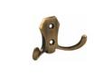 Крючок 2-х рожковый античная бронза арт.33605