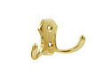 Крючок 2-х рожковый золото арт.8905