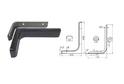 Полкодержатель L236 мм черный арт.4410