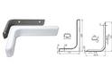 Полкодержатель L120 мм белый арт.4403