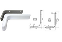 Полкодержатель L180 мм белый арт.4406