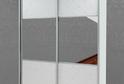 Шкаф-купе зеркало + кожзам с кристаллами