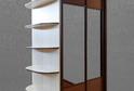 Шкаф-купе двухдверный зеркало + бамбук