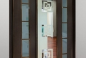 Шкаф-купе зеркало с пескоструйным рисунком+ ЛДСП