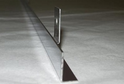 Планка МЩ-внешний угол нерж.сталь (600х9х9) арт.7545