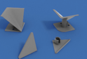 Комплект заглушек для плинтуса треуг-го алюминиевого