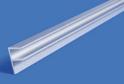 Планка для ст.панели угловая L-600 мат.хром арт.7533
