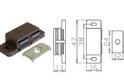 Защелка магнитная одинарная коричневая арт.4066