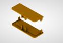 Комплект закр.загл для профиля сред.ящ н/б, золото 02180